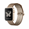 Смарт-часы Apple Watch Series 2 42 мм Gold/Toasted Coffee/Caramel Woven Nylon золотые/коричневые MNPP2
