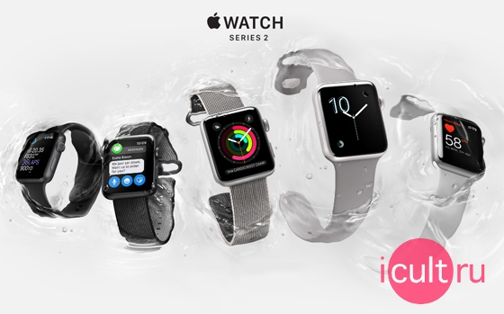 Apple Watch Series 2 Sport Stainless Steel/White