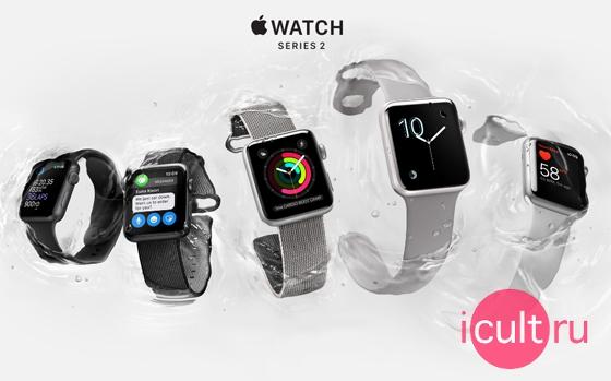 Apple Watch Series 2 Sport 42 мм Stainless Steel/White