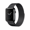 Смарт-часы Apple Watch Series 2 42 мм Space Black Stainless Steel/Space Black Milanese Loop черные MNQ12