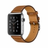 Смарт-часы Apple Watch Series 2 42 мм Stainless Steel/Fauve Barenia Single Tour Leather Band серебристые/коричневые MNQC2