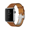 Смарт-часы Apple Watch Series 2 42 мм Stainless Steel/Fauve Barenia Leather Single Tour Deployment Buckle серебристые/коричневые MNQ32