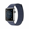 Смарт-часы Apple Watch Series 2 42 мм Medium Stainless Steel/Midnight Blue Leather Loop серебристые/темно-синие MNPW2