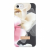Чехол Ted Baker Ano Soft-Feel Shell Case Porcelain Rose Black для iPhone 6/7/8 рисунок 42240