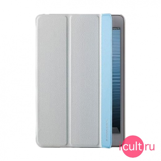 Чехол-книжка Momax Flip Cover White/Blue для iPad mini 1/2/3 белый/голубой