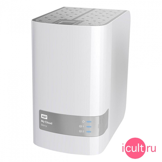 Сетевой накопитель Western Digital My Cloud Mirror 8ТБ White белый WDBWVZ0080JWT-EESN