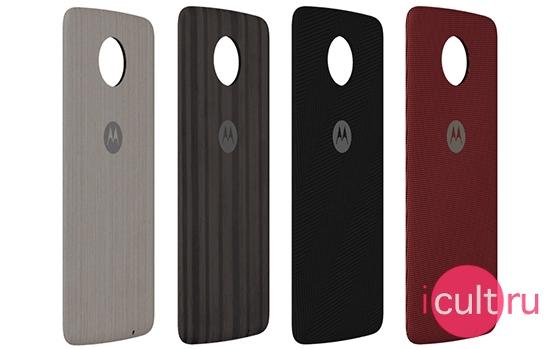 Motorola Wood Style Shells Silver Oak