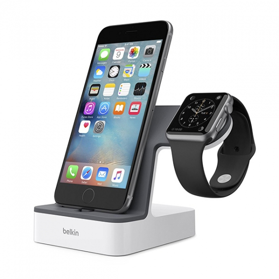 Док-станция Belkin PowerHouse Charge Dock для iPhone/Apple Watch белая F8J200vfWHT / F8J237vfWHT