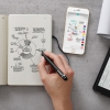 Набор Moleskine Smart Writing блокнот Paper Tablet и ручка Smart Pen Plus черный PTSETA