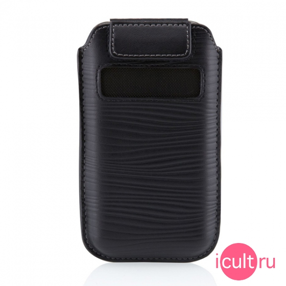 Кожаный чехол Belkin Pull-Tab Verve Leather Holster Case для iPhone 4/4S черный F8Z633cw