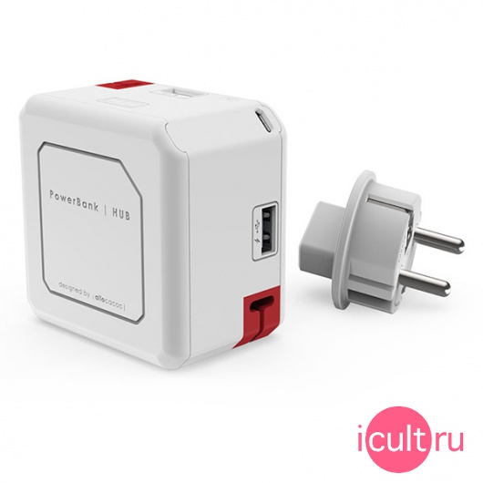 Портативный АКБ Allocacoc PowerUSB Portable PowerBank 2.1A/4USB/5000mAh White белый 9402/EUBANK