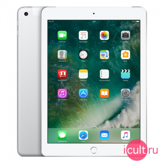 "Планшетный компьютер Apple iPad 9.7"" 128GB Wi-Fi + Cellular (4G) Silver серебристый MP2E2"
