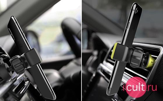 Rock Deluxe Car Vent Holder II Black/Green