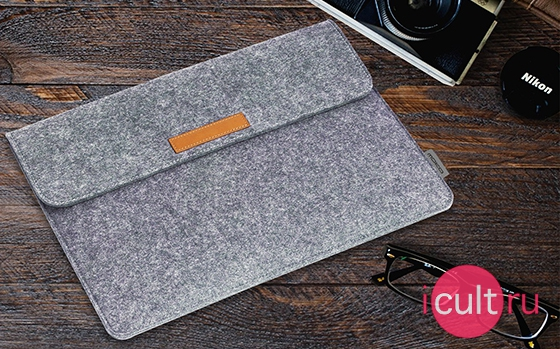 Moko Felt Protective Ultrabook Case Light Gray