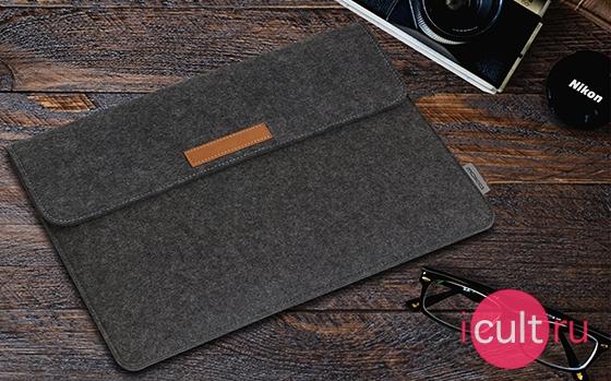 Moko Felt Protective Ultrabook Case Dark Gray