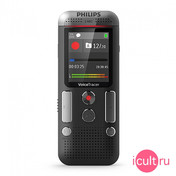Диктофон Philips Voice Tracer Audio Recorder 8GB Black черный DVT2510
