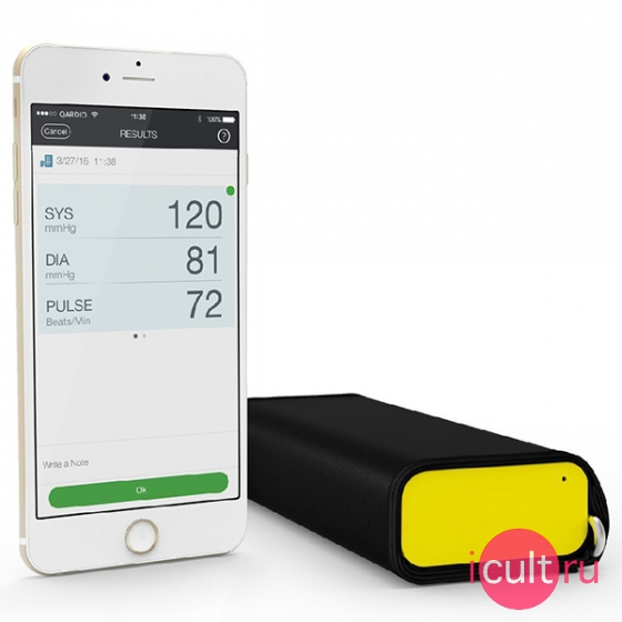 Беспроводной тонометр Qardio QardioArm Wireless Blood Pressure Monitor Racing Yellow желтый A100-IRY