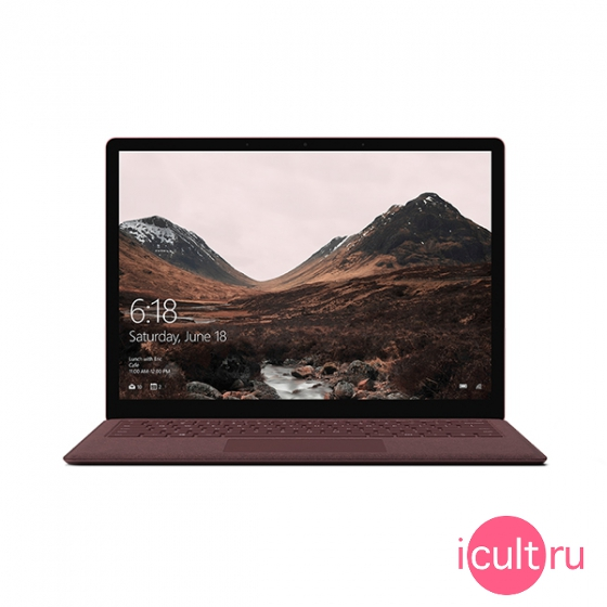"Ноутбук Microsoft Surface Laptop (Intel Core i5 7200U 2500 MHz/13.5""/2256x1504/8Gb/ 256Gb SSD/DVD нет/Intel HD Graphics 620/Wi-Fi/Bluetooth/Windows 10 Pro) Burgundy бордовый"