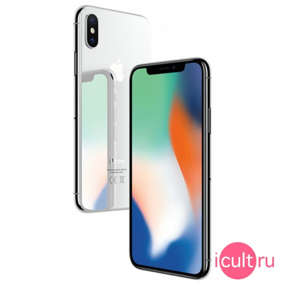 Смартфон Apple iPhone X 64GB Silver серебристый