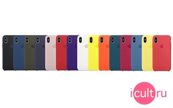 Apple Silicone Case Dark Olive iPhone X