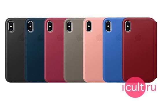 Apple Leather Folio Case Taupe iPhone X