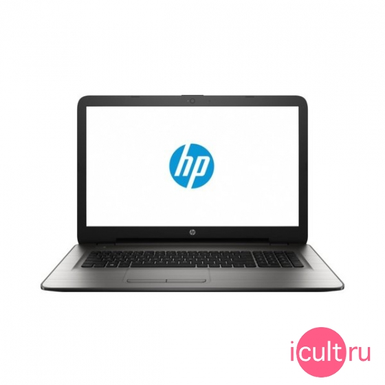 "Ноутбук HP 17-y022ur (AMD A10 9600P 2400 MHz/17.3""/1920x1080/8Gb/500Gb HDD/DVD-RW/AMD Radeon R7 M440/Wi-Fi/Bluetooth/Windows 10 Home) серебристый X7J09EA"