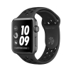 Смарт-часы Apple Watch Series 3 Nike+ GPS 42 мм Space Gray/Anthracite/Black темно-серые/черные MQL42