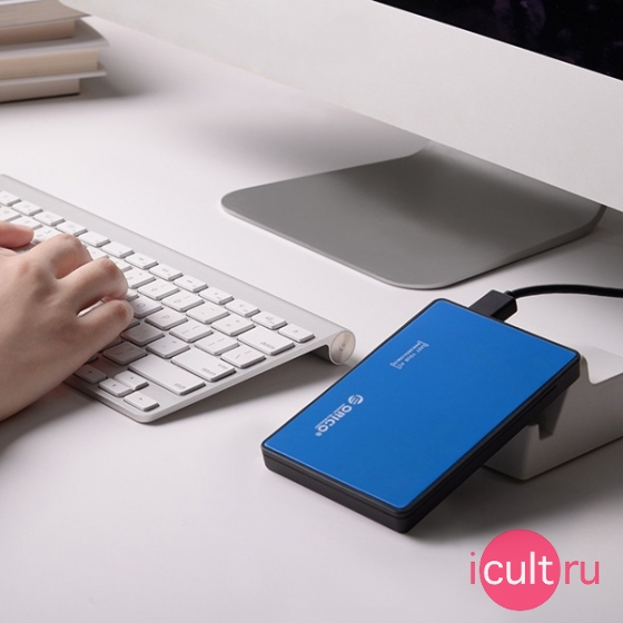 "USB корпус Orico Hard Drive Enclosure для SSD/HDD 2.5"" синий 2588US3-BL"