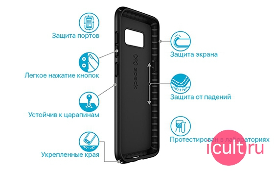 Speck Presidio Black Samsung Galaxy S8+