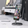 Док-станция Satechi Aluminum Desktop Charging Stand Lightning Space Gray темно-серая ST-AIPDM