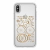 Чехол Speck Presidio Clear + Print City Bike Metallic Gold Yellow для iPhone X/XS прозрачный с рисунком 103136-6678