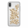 Чехол Speck Presidio Clear + Print Shimmer Floral Metallic Gold Yellow/Clear для iPhone X/XS прозрачный с цветами 103136-6677