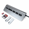 USB-C хаб Satechi Aluminum USB 3.0 Hub & Card Reader 3USB Space Gray темно-серый ST-TCHCRM