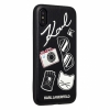 Чехол Lagerfeld Embossed Pins для iPhone X черный KLHCPXPIN