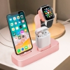 Док-станция COTEetCI Base19 Rose Gold для iPhone/Apple Watch/AirPods розовое золото CS7201-MRG