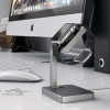 Док-станция Satechi Aluminum Charging Stand Space Gray для Apple Watch темно-серая ST-AWSM