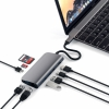 USB-C хаб Satechi Multimedia Adapter 3USB/1USB-C/1HDMI/1mini DisplayPort/1Ethernet Space Gray темно-серый ST-TCMM8PAM