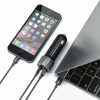 АЗУ Satechi Car Charger Adapter 3A/1USB/1USB-C Space Gray темно-серое ST-TCUCCM