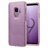 Чехол Spigen Liquid Crystal Glitter Rose Quartz для Samsung Galaxy S9 розовый с блестками 592CS22832