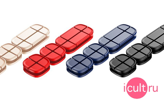 Baseus Cross Peas Cable Clip Red