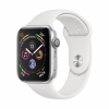 Часы Apple Watch Series 4 GPS 40mm Aluminum Case with Sport Band Silver/White серебристые/белые MU642