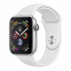 Часы Apple Watch Series 4 GPS 44mm Aluminum Case with Sport Band Silver/White серебристый/белый MU6A2