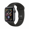 Часы Apple Watch Series 4 GPS 40mm Aluminum Case with Sport Band Space Gray/Black темно-серые/черные MU662