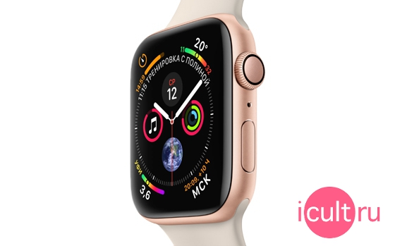 Apple Watch Series 4 GPS Sport 40 мм Silver/Seashell
