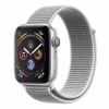 Часы Apple Watch Series 4 GPS 44mm Aluminum Case with Sport Loop Silver/ Seashell серебристые/белые MU6C2