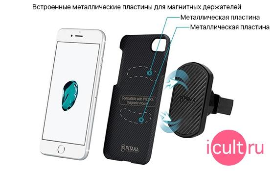 PITAKA MagCase Black/Red Plain iPhone 7/8