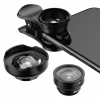 Комплект объективов Baseus Short Videos Magic Camera Wide + FishEye + Macro Lens для смартфонов черные ACSXT-B01