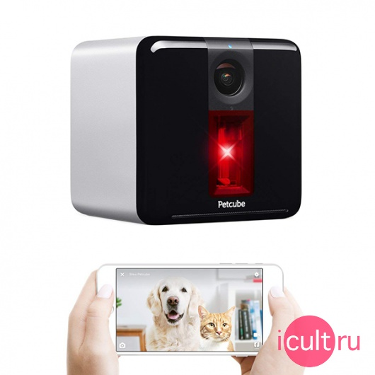 Wi-Fi камера наблюдения с лазером Petcube Play Smart Pet Camera with Interactive Laser Toy Matte Silver серебристая PP211NV5L