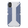 Чехол Speck Presidio Grip Microchip Grey/Ballpoint Blue для iPhone X/XS серый/синий 117124-7569