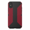 Чехол Speck Presidio Grip Black/Dark Poppy Red для iPhone X/XS черный/красный 117124-C305